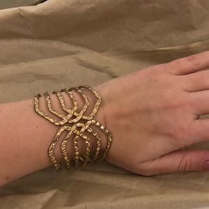 Gold statement large bracelet